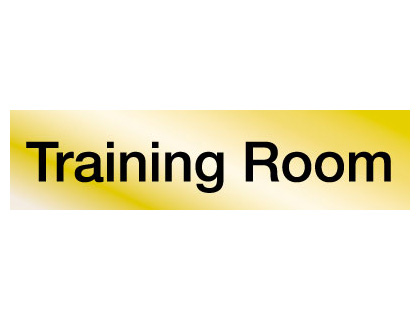 40 x 160 mm brass training room engraved sign