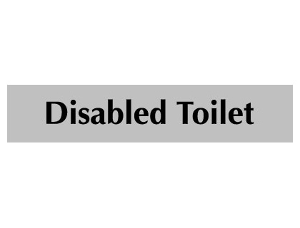 UK Door Signs - 40 x 200 mm black on white disabled toilet
