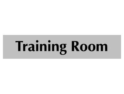 UK Door Signs - 40 x 200 mm black on white training room