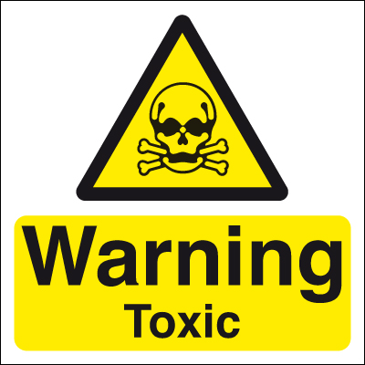 50 x 50 warning toxic