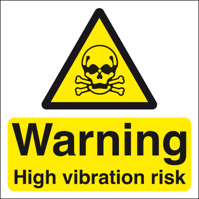 50 x 50 warning high vibration