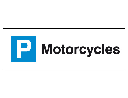 External signs - 200 x 600 mm motorcycles
