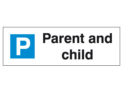 External signs - 200 x 600 mm parent and child