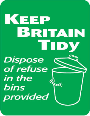 260 x 200 mm keep britain tidy dispose of