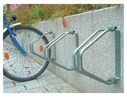 180 degree wall mounted bicycle rack