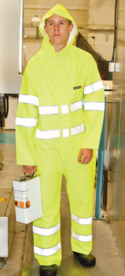 Protective clothing - Hi-viz boilersuit green L