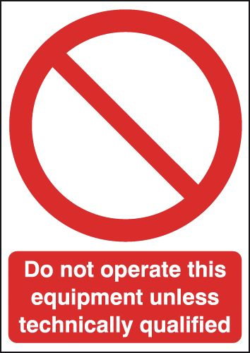 A4 do not operate this equipment unless