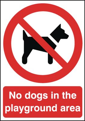A5 no dogs in the playground area label.