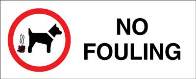 100 x 250 mm no fouling label.