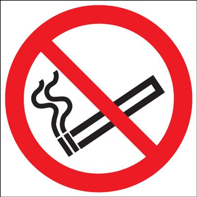 UK smoking signs - 100 dia no smoking (symbol)