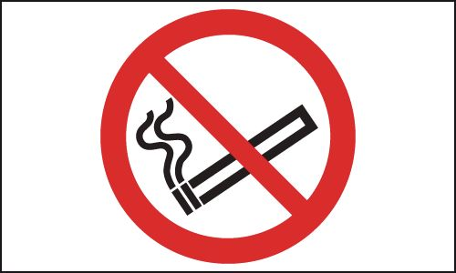 UK smoking signs - 150 x 300 mm no smoking