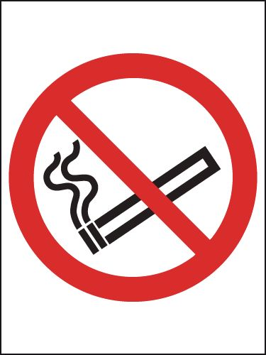 UK smoking signs - 70 x 50 no smoking (symbol)