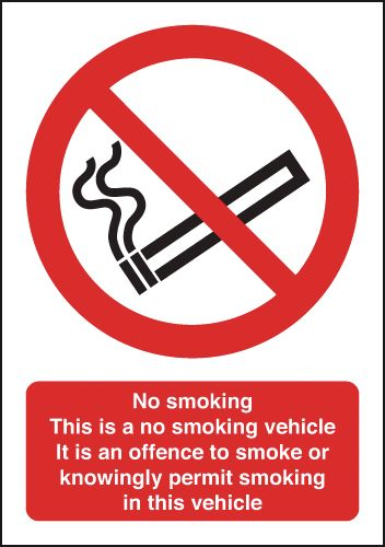 UK smoking signs - 70 x 50 no smoking this is a no smoking