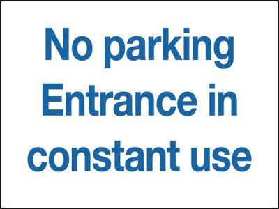 300 x 400 mm no parking entrance in constant