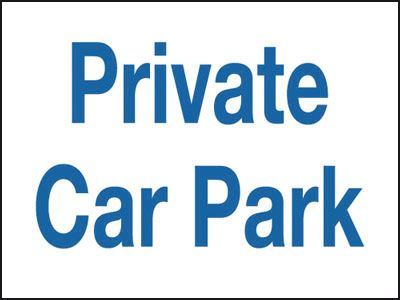 300 x 400 mm private car park