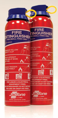 Fire extinguishers - 800g dry powder disposable fire