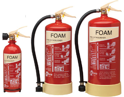 Fire extinguishers - 2 litre foam extinguisher