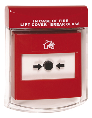 Red flush mounted slimline alarm cover