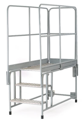 Work platforms - 2 step work platform side handrail only