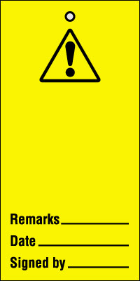 UK warning signs - 200 x 100 mm warning blank