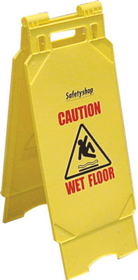 570 caution wet floor safety shop floor