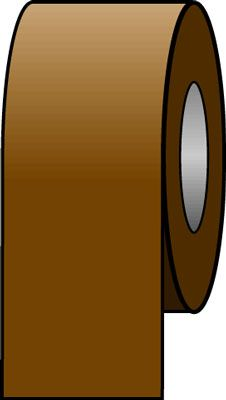 150 x 33 metre brown tape