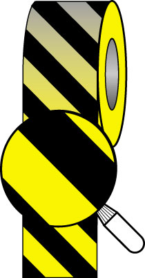 50 x 33 metre black yellow tape