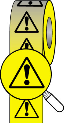 50 x 33 metre warning symbol tape