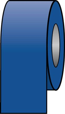 Pipeline colour tapes 33 mm x 33 metre blue