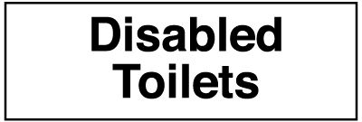 50 x 200 mm disabled toilets