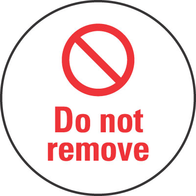30 x 30 do not remove