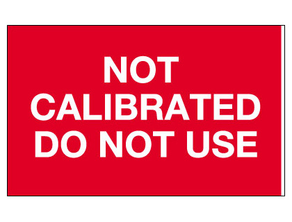 25 x 40 not calibrated do not use tamper