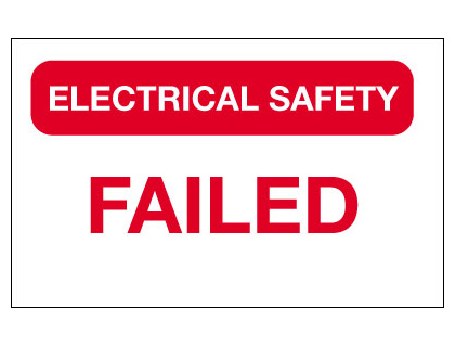 40 x 75 mm electrical safety -failed vinyl