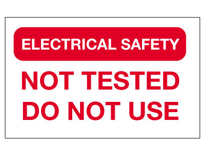25 x 40 electrical safety not tested do not use