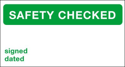25 x 40 safety checked vinyl labels