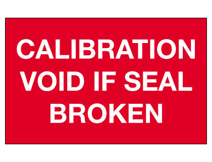 40 x 75 mm calibration void if seal broken