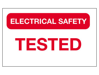 40 x 75 mm electrical safety tested vinyl
