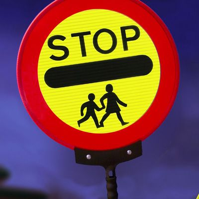 450 mm stop children lollipop sign