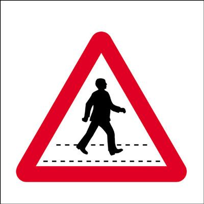 450 x 450 mm pedestrian crossing Sign