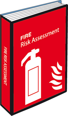 Fire risk assessment file labels