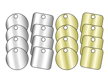 38 x 38 blank brass valve tag pack of 25