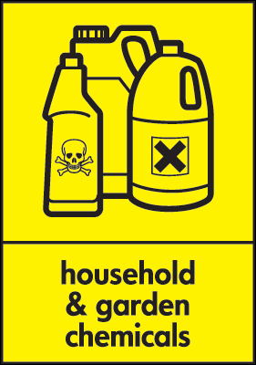 210 x 148 mm household & garden chemicals self adhesive label