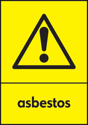 Recycling signs - 210 x 148 mm asbestos