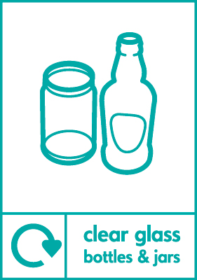 210 x 148 mm clear glass bottles and jars