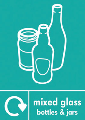 210 x 148 mm mixed glass bottles and jars label.