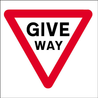 600 x 600 mm give way Sign