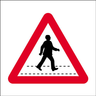 600 x 600 mm pedestrian crossing Sign