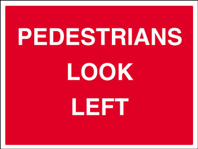 450 x 600 mm pedestrians look left