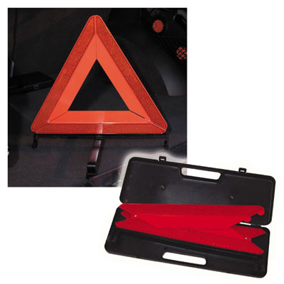 Emergency warning triangle in carry case
