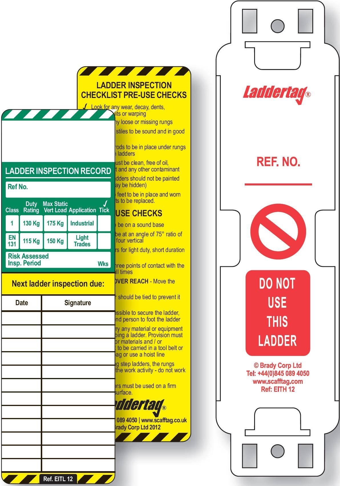 Ladder inspection pocket guide pack of 5